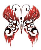 Red tattoo butterfly Stock Photography
