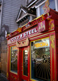 Red tattoo shop in america Stock Photo