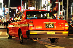 Red taxi Stock Image