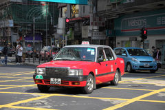 Red taxi in Hong Kong Royalty Free Stock Image