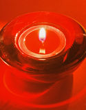 Red tea candle Stock Photos