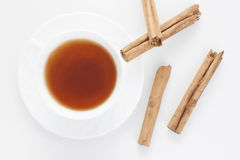 Red tea with cinnamon Royalty Free Stock Photo