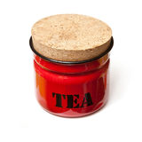 Red tea container Royalty Free Stock Images