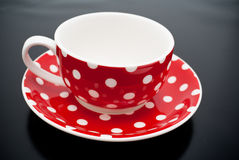 Red tea cup Stock Image