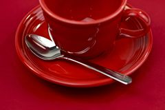 Red Tea Cup Stock Photo