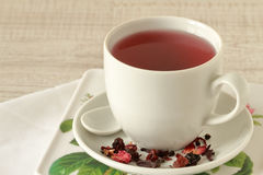 Red tea in a cup Royalty Free Stock Images