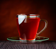 Red Tea in Glass Cup Stock Photography
