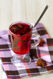 Red Tea (karkade) with anisetree Stock Images