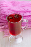 Red Tea (karkade) with a scarf Stock Images