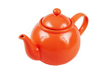 Red tea kettle Stock Image