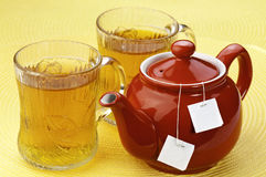 Red tea pot Royalty Free Stock Photography