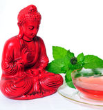Red Tea pot Buddha Royalty Free Stock Photography