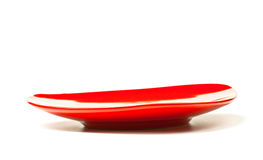 Red tea saucer Royalty Free Stock Photography
