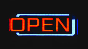Red and Teal Open Neon Signage Royalty Free Stock Photography