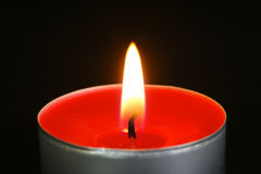 Red Tealight Candles Royalty Free Stock Images