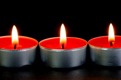 Red Tealight Candles Stock Image