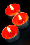 Red Tealight Candles Stock Photo