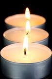 Red Tealight Candles Stock Photos