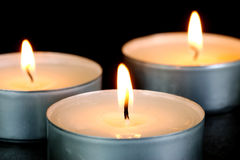 Red Tealight Candles Stock Images
