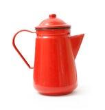 Red teapot. On a white bg Stock Photos