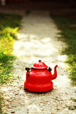 Red teapot Royalty Free Stock Photography