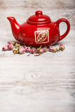Red teapot Royalty Free Stock Images