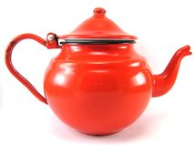 Red teapot Royalty Free Stock Photos
