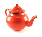 Red teapot Stock Image