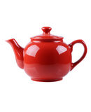 Red teapot isolated on white Stock Images