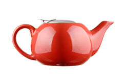 Red Teapot Royalty Free Stock Image