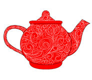 Red teapot Stock Photography