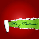 Red teared paper with your christmas text Stock Photos
