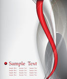 Red tech abstract background composition Royalty Free Stock Photography