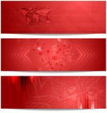 Red tech abstract banners Stock Photography
