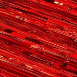 Red tech background. Abstract 3D render of glass and metal Royalty Free Stock Photography