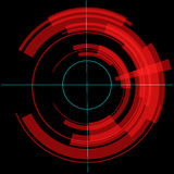 Red tech circle. Raster. Royalty Free Stock Images