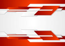 Red tech geometric design Stock Images