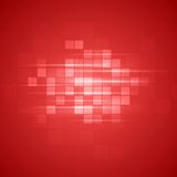Red technical squares background Royalty Free Stock Photos