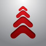 Red techno 3d christmas tree Royalty Free Stock Photos