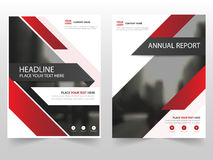 Red technology business Brochure Leaflet Flyer annual report template design, book cover layout design,. Abstract business presentation template, a4 size design stock illustration