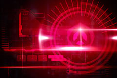 Red technology interface with light Stock Images