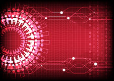 Red Technology Number Background Stock Photo