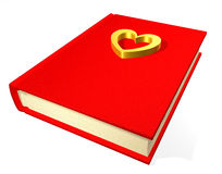 Red teenage diary. With heardt Stock Photography