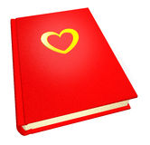Red teenage diary. With heardt Stock Images