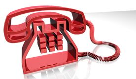 Red telephone Stock Photography
