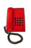 Red Telephone. With the black button Royalty Free Stock Photo