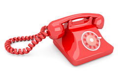 Red Telephone. A red Telephone for emergencies. 3D rendered Illustration Stock Photography