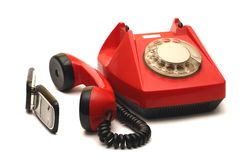 Red telephone Royalty Free Stock Image