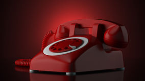Red telephone Royalty Free Stock Photo