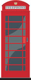 Red telephone booth stock illustration